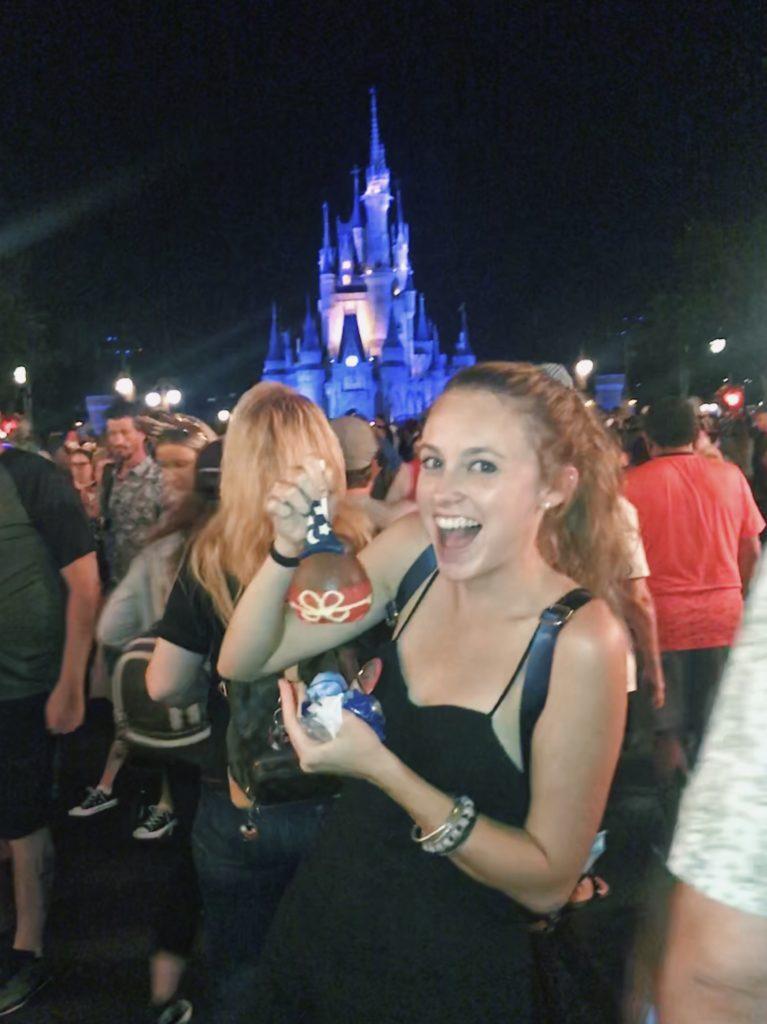 Caramel apples in Disney's Magic Kingdom